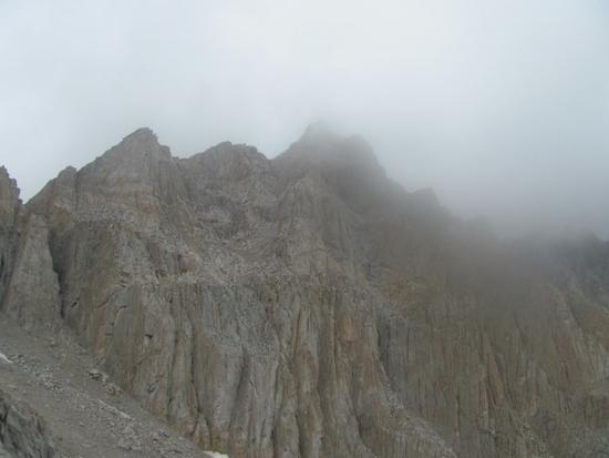 Mt Whitney in the clouds