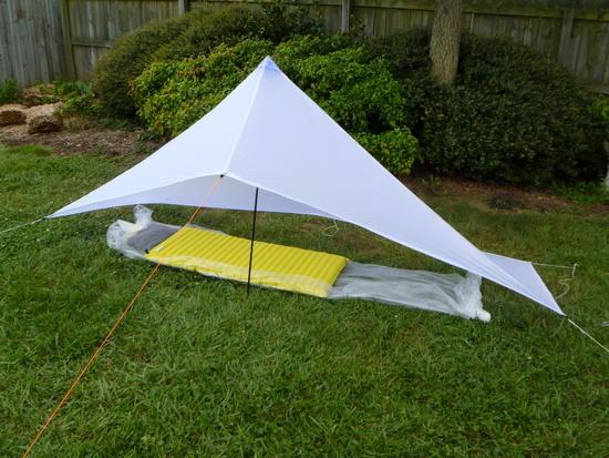 1/2 pyramid tarp with beak