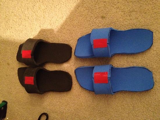 diy foam camp shoes