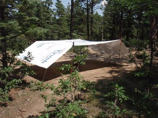 Tyvek Dining Fly in use at Philmont