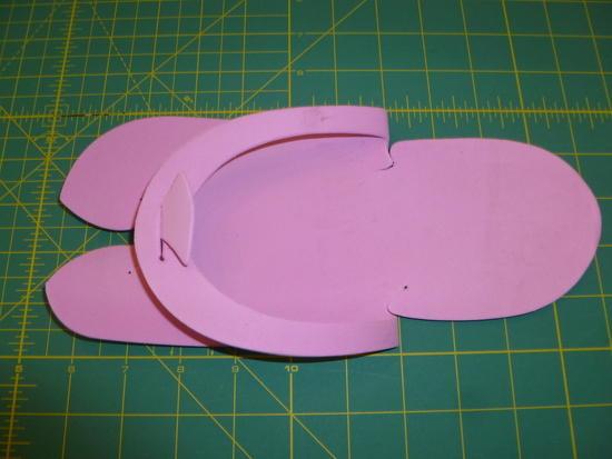 Pedicure sandal folded