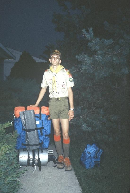 6:00am Aug 1982 Ready for Philmont