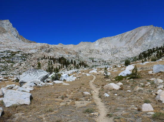 Looking back toward Colby Pass