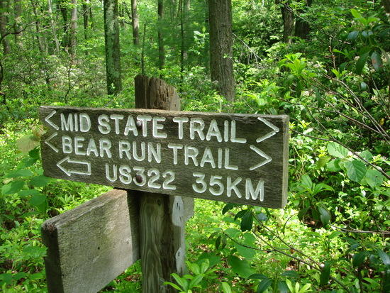 Mid State Trail Sign