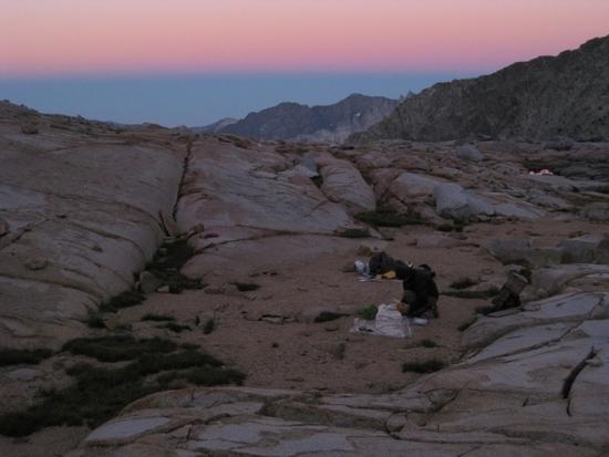 Sunset below Potluck Pass