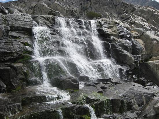 Waterfall below Catherine Lake