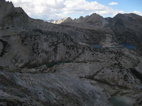 Cascade Lake and Steelhead Lake with Sky Pilot Col and Secret Lake Pass