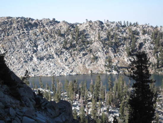 Breeze lake from the pass