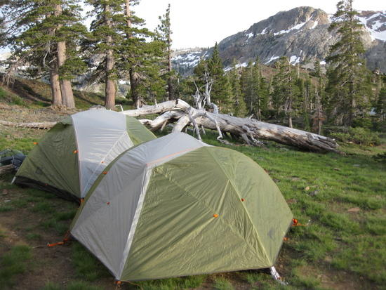 tents at desolation wilderness