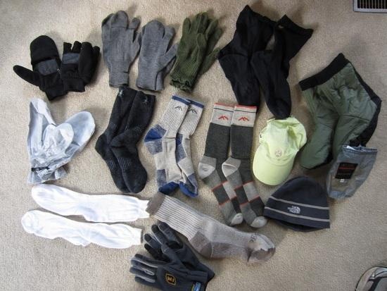 Gloves, Socks and Hats