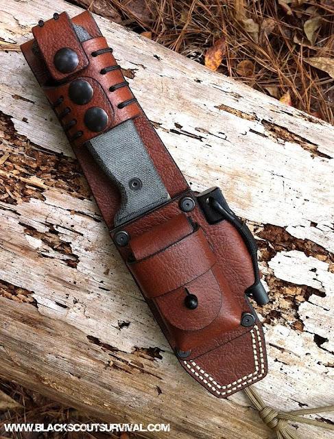 Hedgehog Leatherworks Blackbird SK-5 sheath
