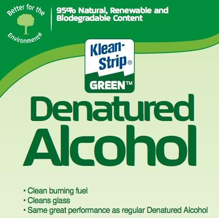 Kleen-Strip Green Denatured Alcohol label
