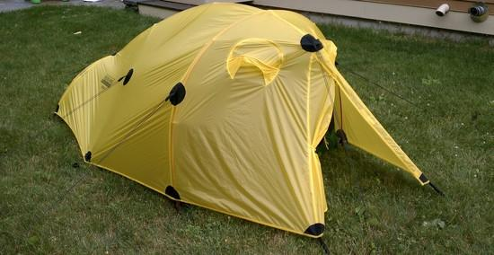 practice set-up & Brooks-Range Foray 2P Tent Review - Backpacking Light