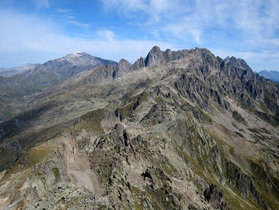 9 Aiguille Rouges from Le Brevent