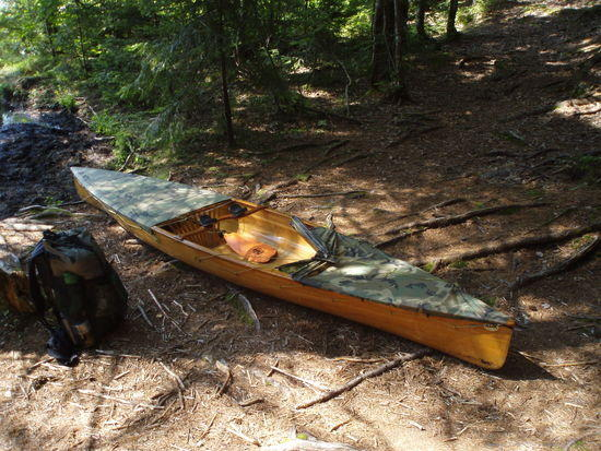 St. Regis: Pack and canoe ready for portage.