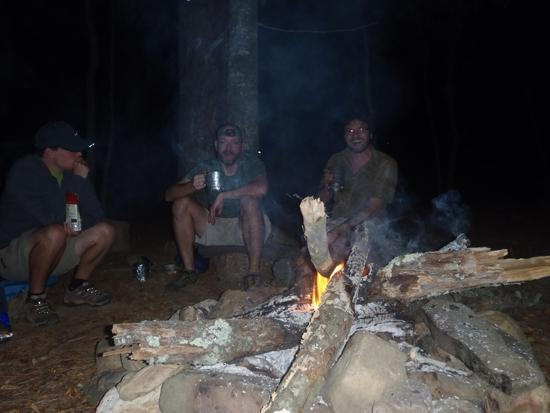 Hanging out around the fire