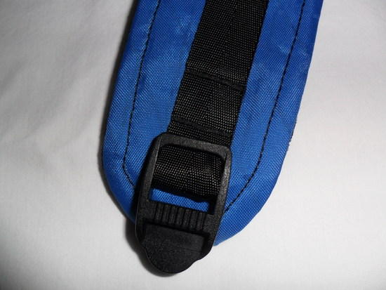 Shoulder strap detail of ladderlock area