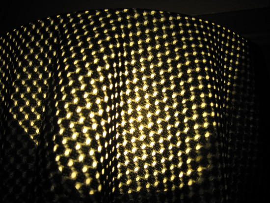 Super close up of mesh material.