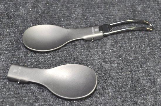 Folding Hard Anodized Aluminum Spoons