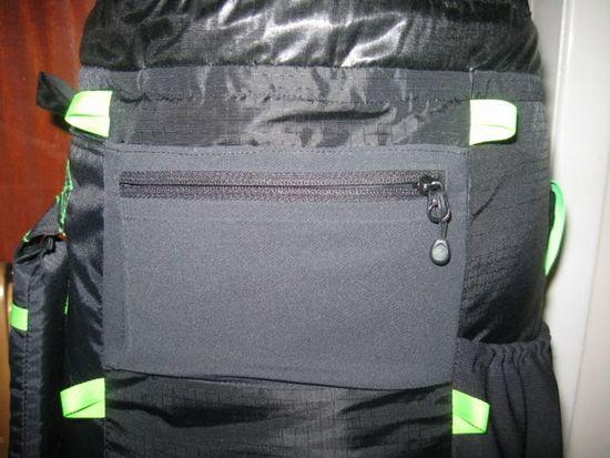 zippered pocket