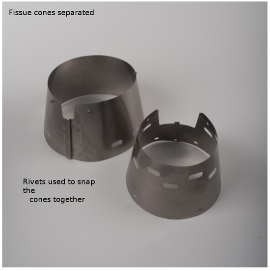 fissure cones separated