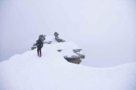 Snowing at Dewey Point