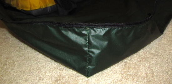 Bivy head zipper detail