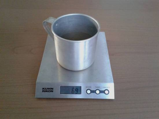 Cheap and light aluminium mug