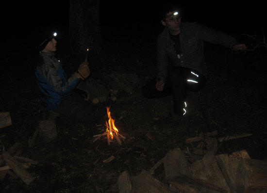 Keegan Gets Some BushCraft Instruction