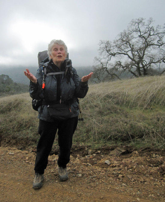 Jane Hiking in the Fog