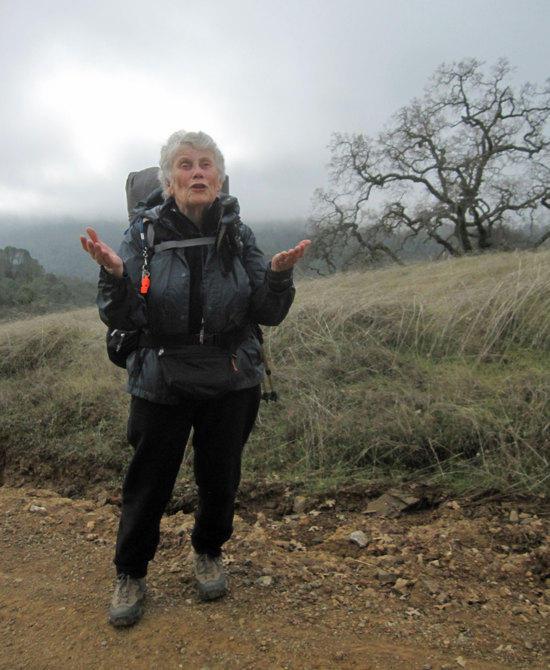 Jane Hiking in the Fog