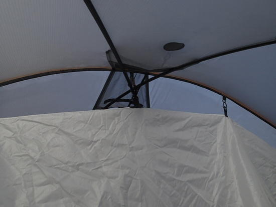 attatchment of inner tent at roof.