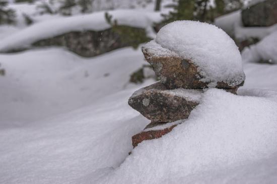 snow cairn