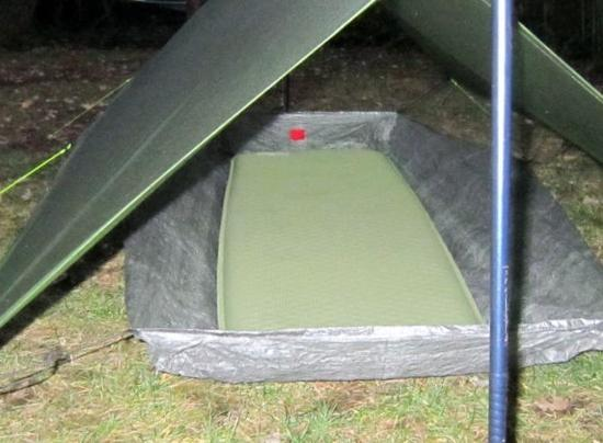 Zpacks SOLO PLUS groung sheet with bath tub walls. It clips into the guy loops frontcenterrear & Tarp/Bivy vs Tarp/Ground sheet for rain spray protection ...