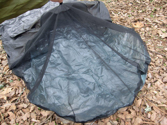Close Up View of the Head Net Portion of the Bivy
