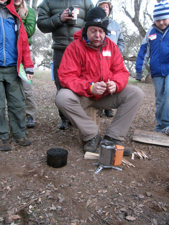 Hiking Jim with the BioLite Stove