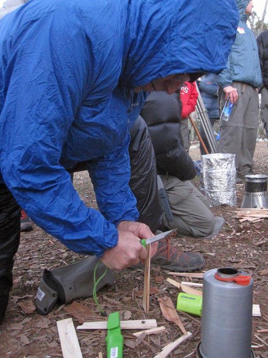 Marc Preps His Wood By Slicing Kindling