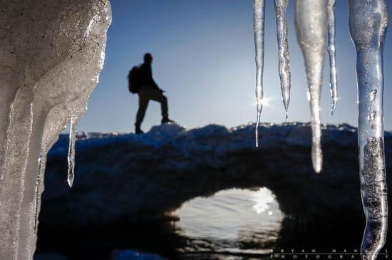 selfie ice arch
