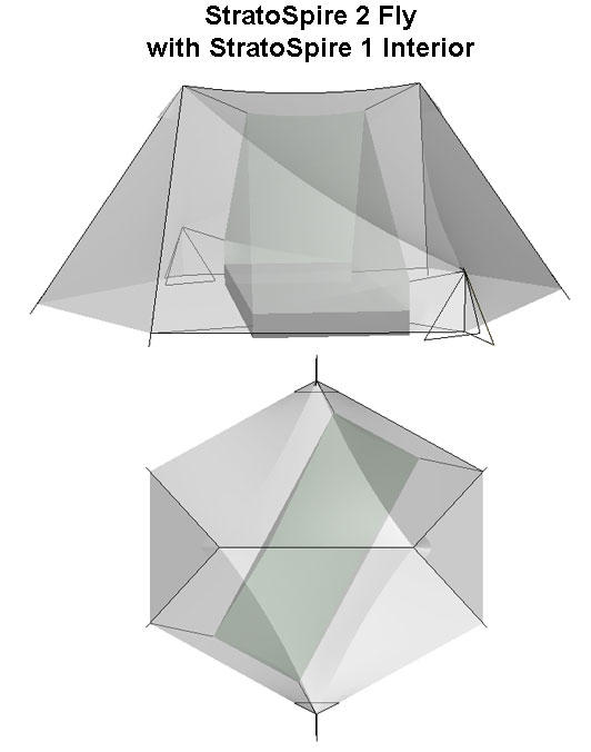Tarptent SS2 Fly with SS1 Interior