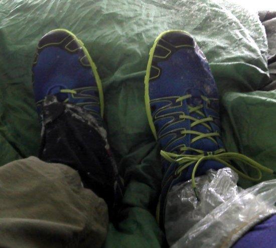 Footwear on my last snowshoe overnight trip