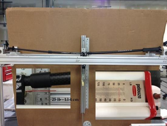 Easton Ultralight UL Carbon 3, Flex test- 25 lbs