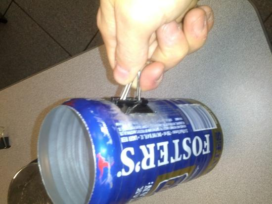 Fosters held by handle