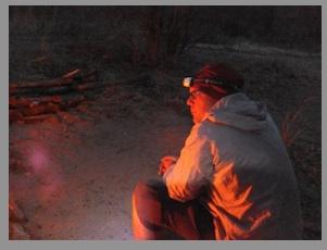 Me at campfire