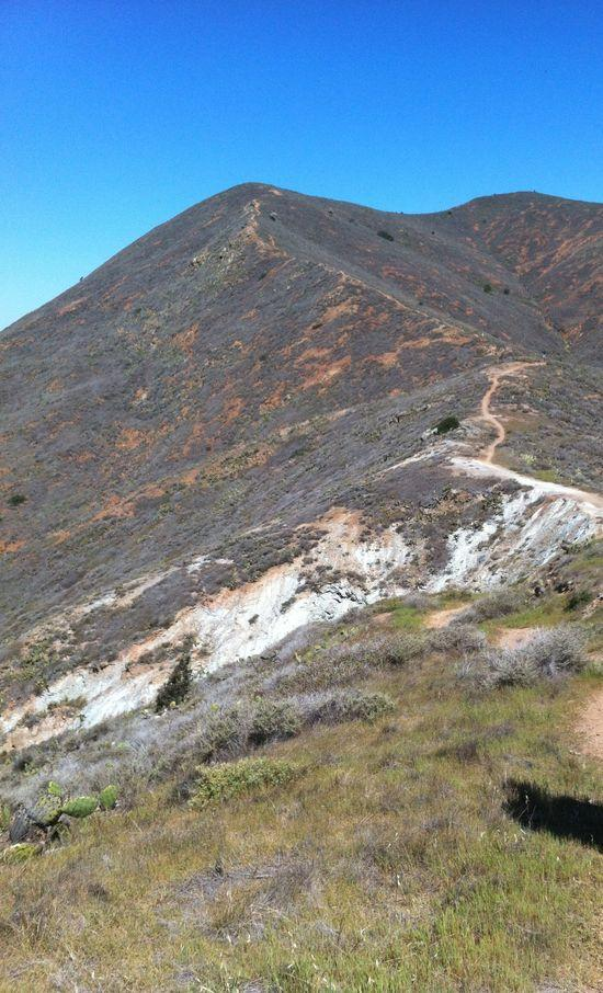 Climbing toward Banning Pk