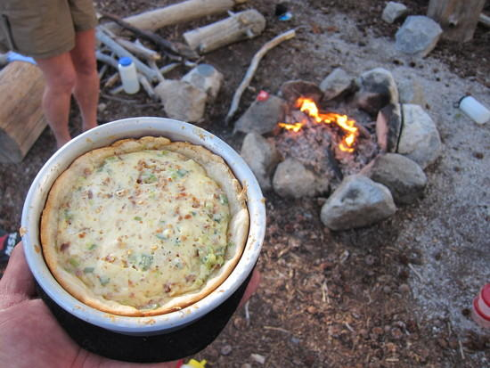 Quiche on the trail