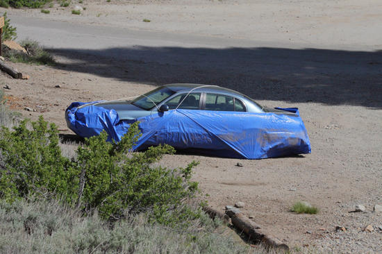 car in Mineral King trailhead lot