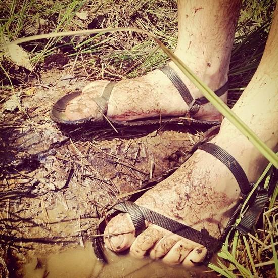 muddy exodus sandals