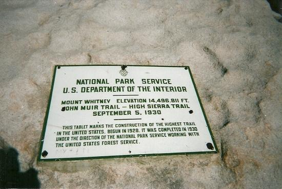 Mt. Whitney Trail Marker
