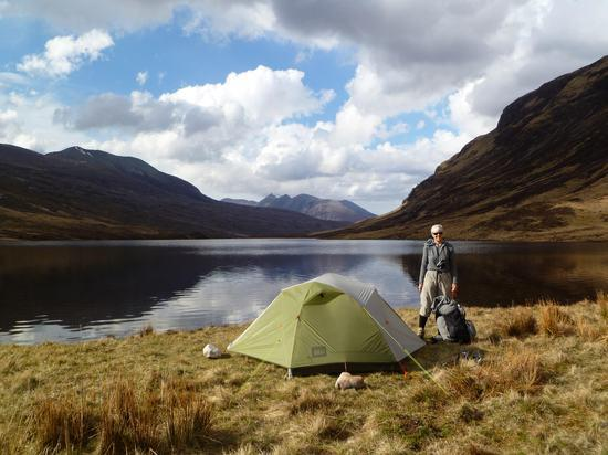 scotland tent at Loch an Nid