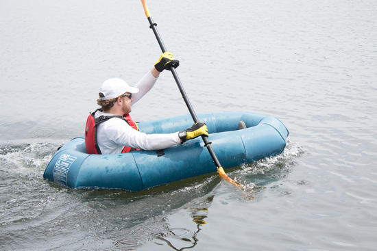 Paddling with the Flytepacker